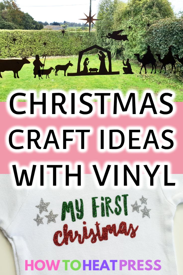 10 Christmas Project Ideas Using Vinyl Htv Adhesive Christmas Projects Vinyl Vinyl Projects