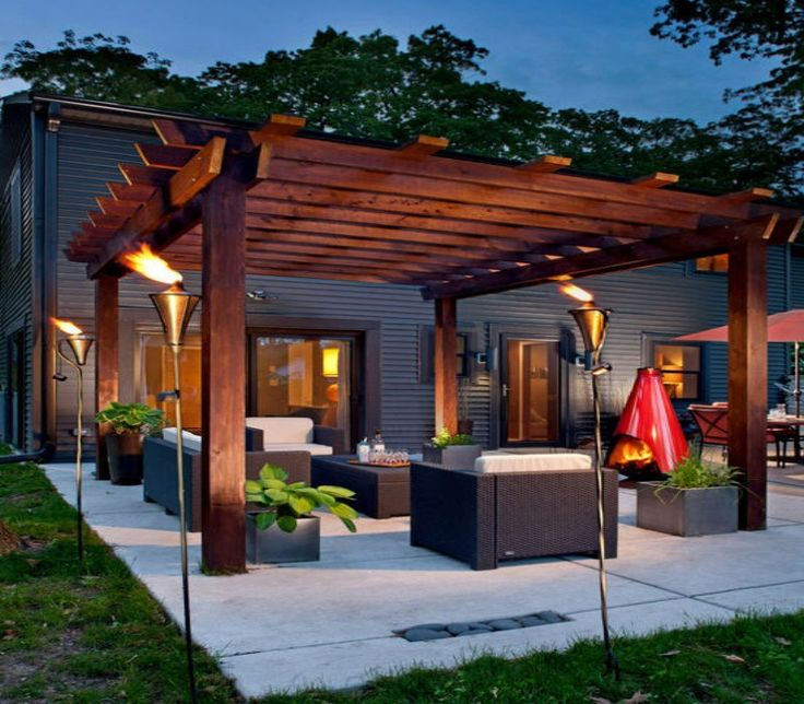 Attractive Pergola Furniture Pictures
