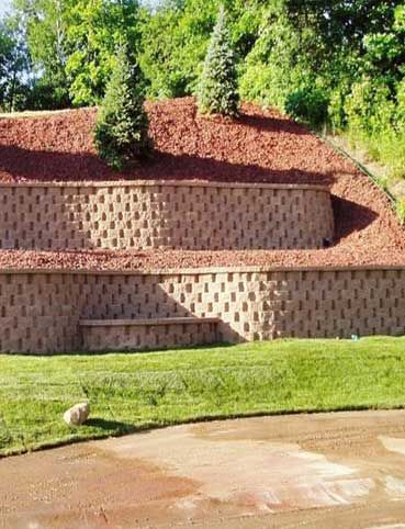 find this pin and more on misc share with a friend a beautiful layered retaining wall - Landscape Design Retaining Wall Ideas