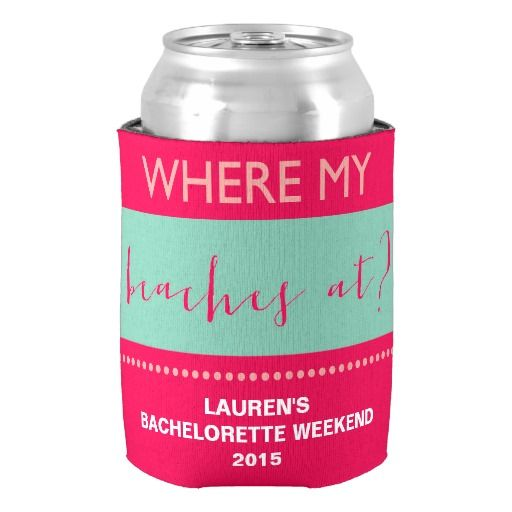 Personalized Custom Bachelorette Beach Party Can Cooler Neoprene Beer Can Cooler Holder Anniversary Party Decorations Favors