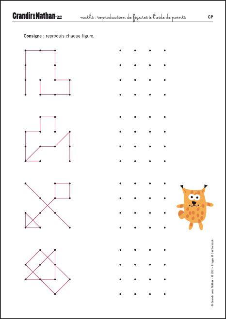 Maths - CP - Reproduction de figures à l'aide de points