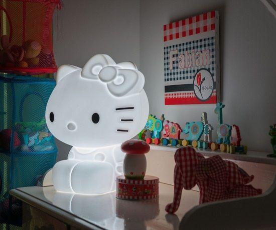 Lámpara de diseño para niñas, Hello Kitty - Mamidecora.com