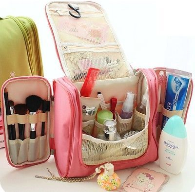 Hanging Cosmetic Bag Organizer Bag Large Capacity Travel Toiletry Makeup Bag
