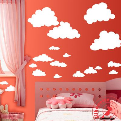 clouds decals Silhouette Design.in Adorn your wall with Silhouette Design and see the change in your decor. The most easy way to enhance your space.   mail us at:- info.silhouettedesign@gmail.com