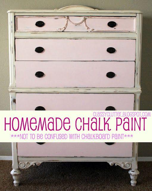 DIY chalk paint  (not chalkboard paint)