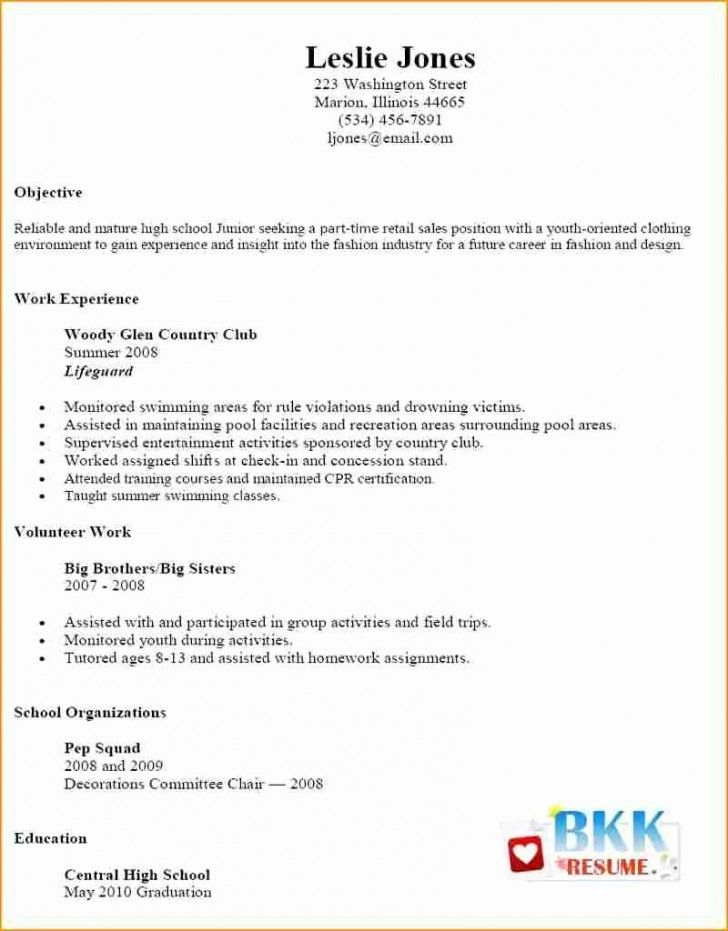 033 Part Time Job Resume Template Ideas Templates New Simple Job Resume Examples Job Resume Template Basic Resume Examples