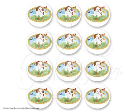"The Poky Little Puppy PhotoCake® Edible Cake Image, 2"" Images (sku: 6675)"