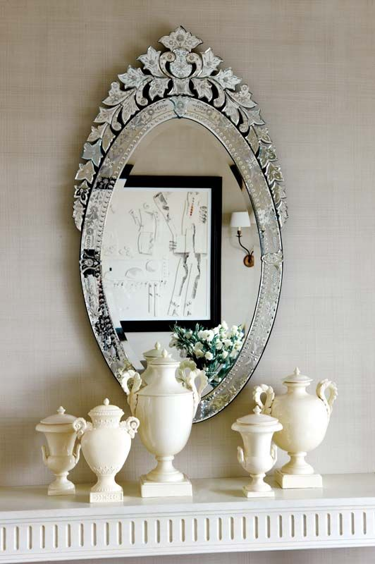 Love the top of this venetian mirror