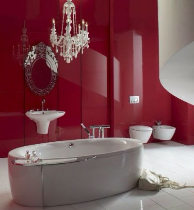 15 best bad images on Pinterest Bathroom ideas, Home and Red - red bathroom ideas