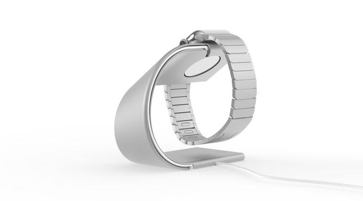 Apple: WATCH: charger:  Nomad mobile 'Pod' charger quadruples Apple Watch battery life - CNET With a 1,800mAh lithium polymer rechargeable battery housed tightly inside, the $59 Nomad Pod, due out in June, packs enough power for four complete charges of Apple Watch. (http://www.cnet.com/news/nomad-pod-mobile-apple-watch-charger-debuts/) nomad-stand-back.jpg