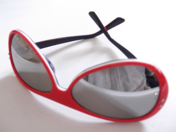 Vintage 1970s Sunglasses Red White Blue by TimelessTreasuresVCB, $30.00