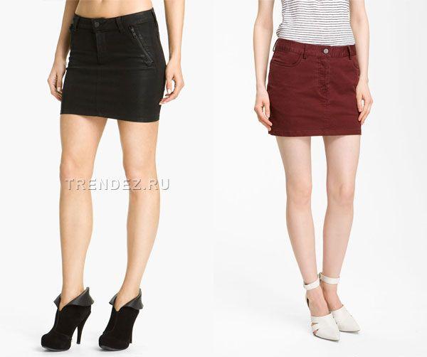 Короткие и длинные джинсовые юбки 2013