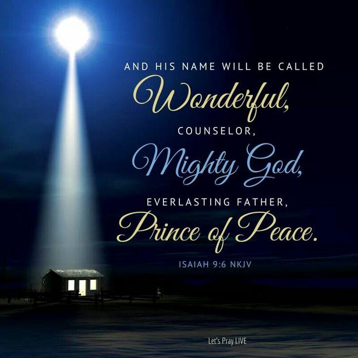 Isaiah 96 Bible Scriptures Christmas Jesus Christmas