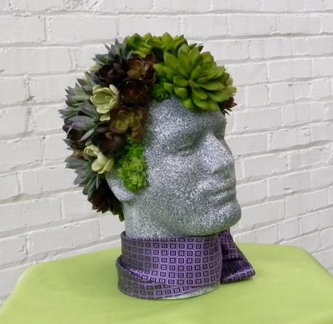 Faux Succulent Mannequin Head Display: DIY Tutorial