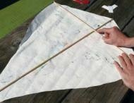 You're never too old to make a kite.