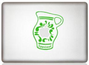 MacBook Aufkleber Äppelwoi