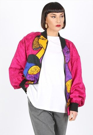 Vintage Patterned Bomber Jacket | Outdoor Jacket
