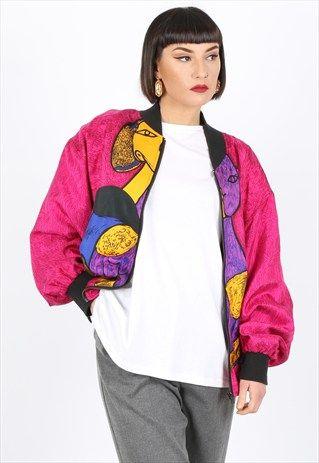 Vintage Patterned Bomber Jacket | Outdoor Jacket