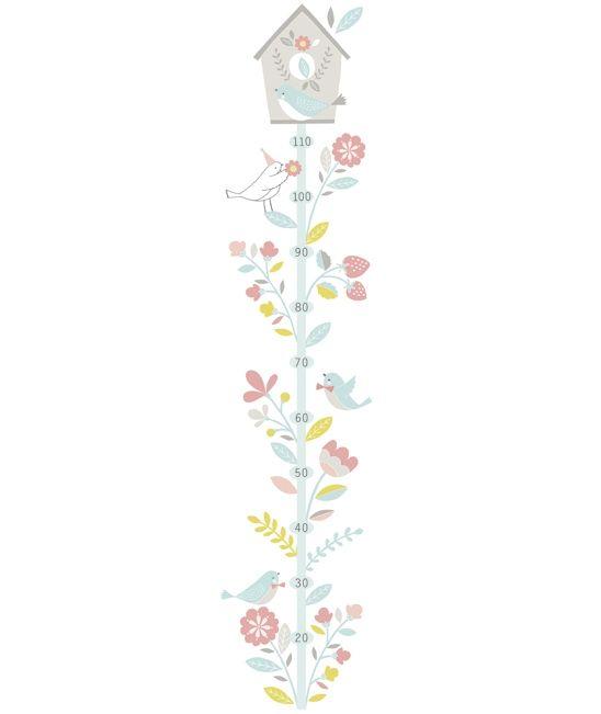 toise b b fleurs et oiseaux toise pinterest stickers et b b. Black Bedroom Furniture Sets. Home Design Ideas