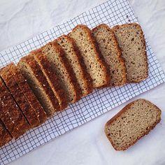 Nytt recept! Det här har jag velat prova en längre tid - #glutenfritt #surdegsbröd gjord på hel bovete. Det visade sig vara det absolut enklaste sättet att göra surdegsbröd som jag har provat. Det krävs ingen glutenfri surdegsgrund/surdegsstart eller särskilda ingredienser utan det här kan vem som helst ge sig på direkt! Du gör bara smeten till brödet och låter den jäsa av sig själv - utan tillsatt surdegskultur. Det funkar ändå!  Ingredienserna är få (inga extra konsistensgivare behövs)…
