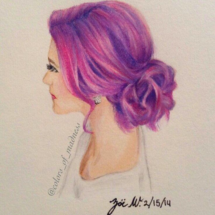 Draw Pink Hair