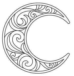 Crescent Moon_image | Wood burning/dremel | Pinterest ...