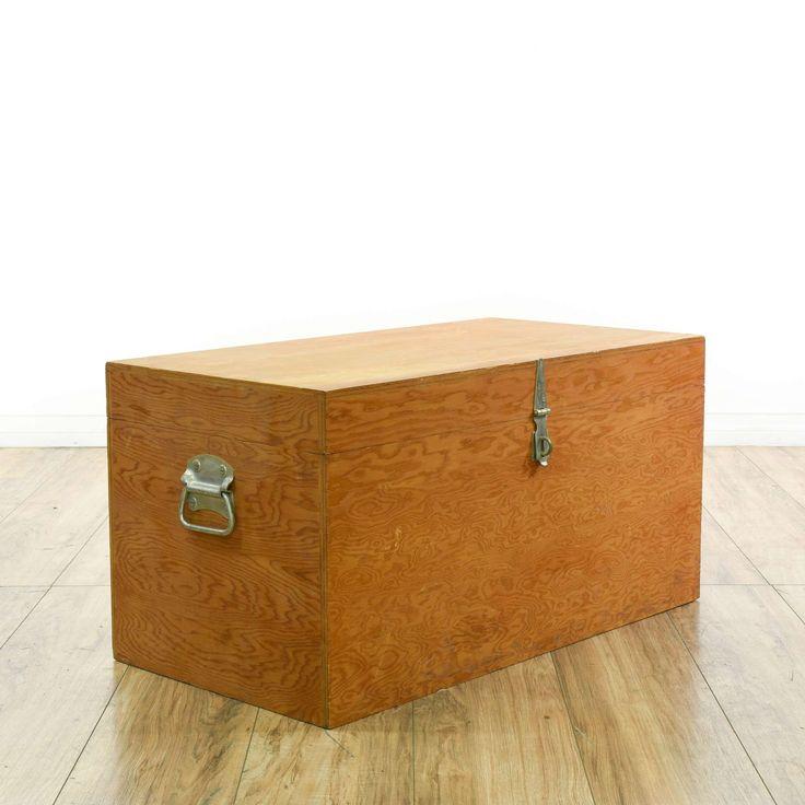 Wooden Box Trunk Chest | Loveseat Vintage Furniture San Diego