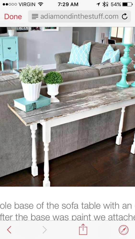 1000 ideas about narrow table on pinterest narrow for Narrow console table behind couch
