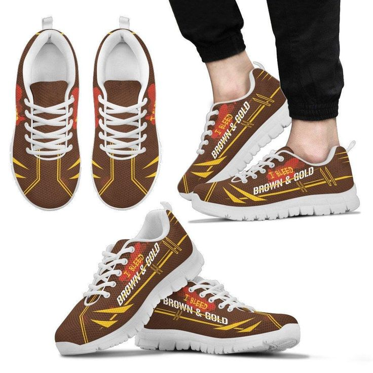 I BLEED BROWN & GOLD SNEAKERS V2