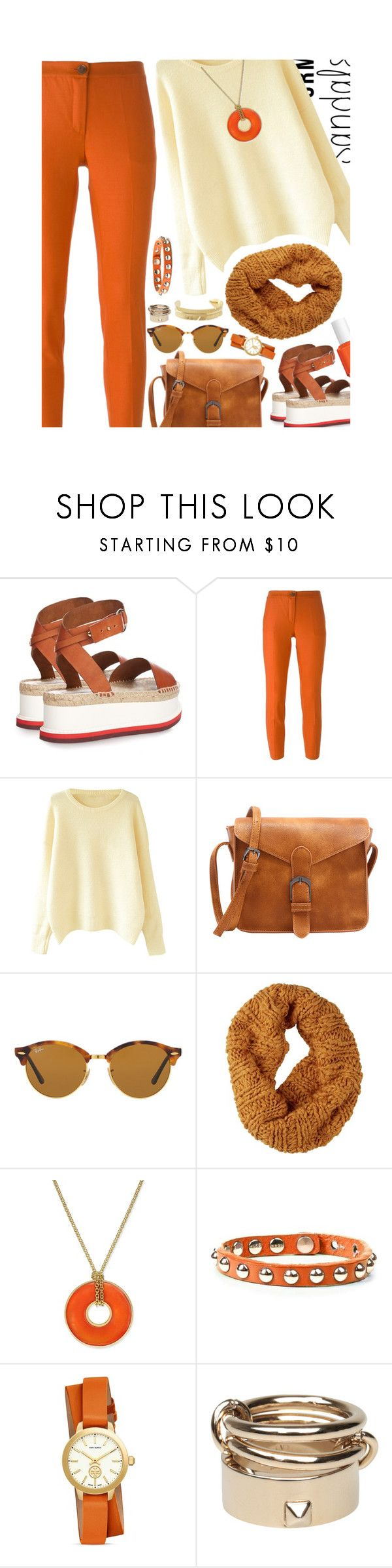 """""""Ready"""" by ladrianag ❤ liked on Polyvore featuring STELLA McCARTNEY, Erika Cavallini Semi-Couture, Ray-Ban, Burton, Charter Club, Tory Burch, Valentino, Marte Frisnes, Essie and platforms"""
