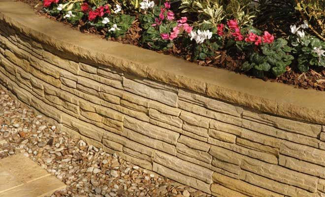 Natural Impressions 174 Flagstone Retaining Wall