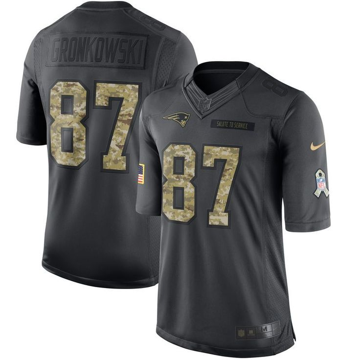 Rob Gronkowski New England Patriots Nike 2016 Salute to Service Jersey - Anthracite
