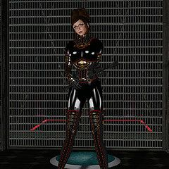 Someones Been Naughty (alexandriabrangwin) Tags: world red black sexy leather metal fetish computer dark grid glasses 3d graphics opera shiny boots elevator ds rubber glossy riding gloves secondlife virtual crop latex corset tight trim mistress punishment straps domme buckles catsuit cgi rosal dominatrix steampunk thighboots updo gauntlets hugosdesign alexandriabrangwin brangwinmanor