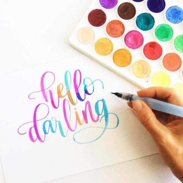 Watercolor Lettering Watercolor Lettering Brush Lettering