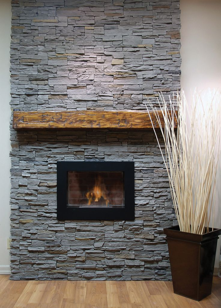 brick fireplace mantel for the additional decoration place: minimalist gray  brick fireplace mantel with wooden shelf also laminate floor and white wall  ...
