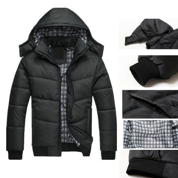 NEW SALE Winter Men Puffer Jacket Warm Padded Hooded Down Coat Overcoat Outwear | Clothes, Shoes & Accessories, Men's Clothing, Coats & Jackets | eBay!