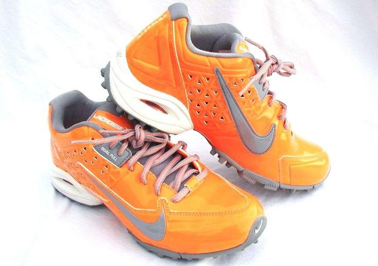 SOLD  Air Nike Speedlax Low Lacrosse Turf Cleats Dual Pull Orange Women 7.5 624977-800 #Nike #Cleats