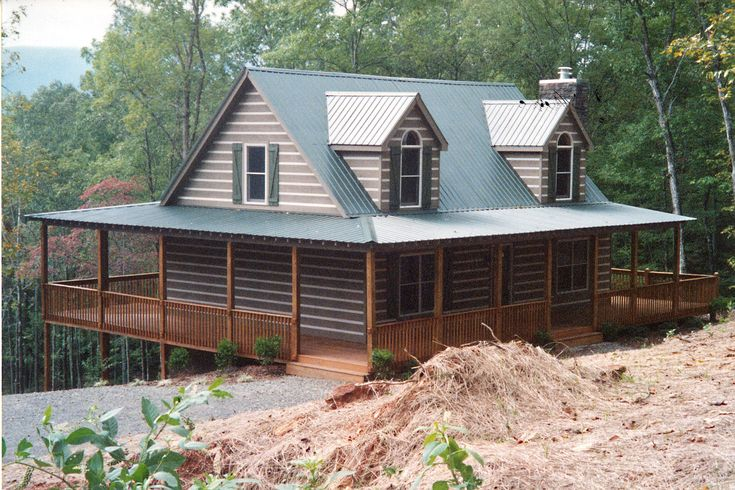 ordinary wrap around porch modular homes #5: Highland modular home by Nationwide Homes built on a mountain ridge.  Customer built a wrap around porch so they can enjoy the views.