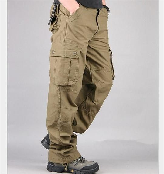 High Quality Men's Cargo Pants Mens Casual Cotton Multi Pocket Military Panteticdress