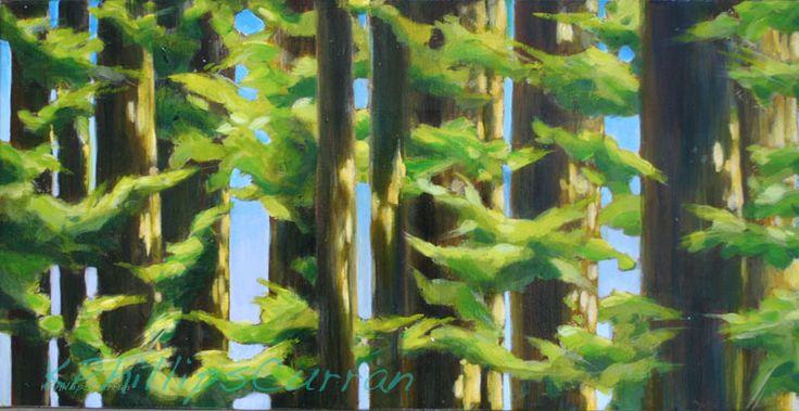 Cathy's trees12x24$350 Karen Phillips Curran