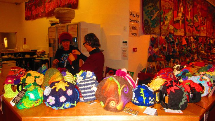 Tea Cosies are sisters to Beanies at Alice Springs Beaniefest 2015