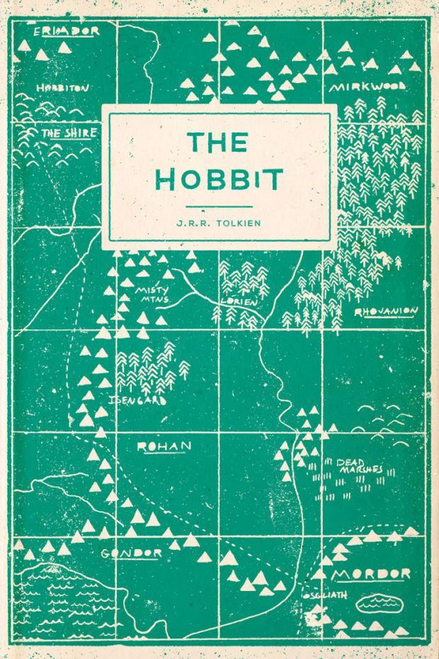 The Hobbit by J. R. R. Tolkien; design Adam Busby / Buzz Studios (unused / February 2013) 1