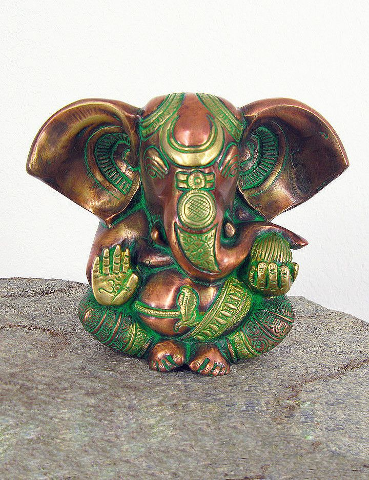Antique Brass Ganesh Statue #brass #fair-trade #ganesh