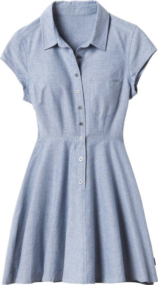 Flirty chambray dress.