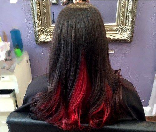 deux couleurs de cheveux tonique