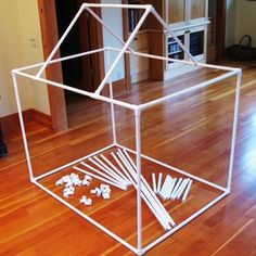 Directions for buying and cutting pvc pipe and joints for multiple blanket fort structures