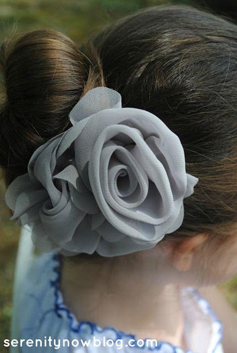 DIY Rose Hair Accessories