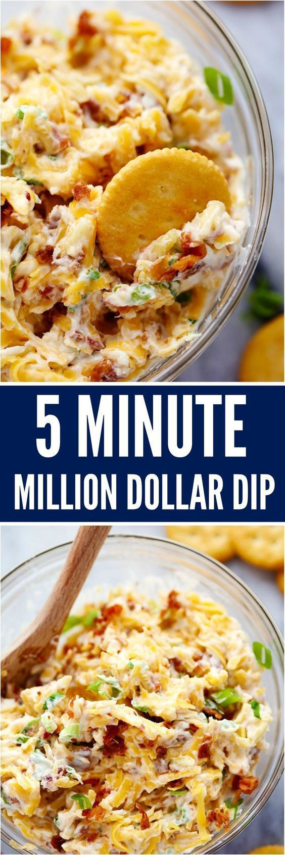 5 Million Dollar Dip is only 5 ingredients and they don't call it million dollar dip for nothing! It is so deliciously addicting and will be the biggest hit wherever it goes! via The Recipe Critic