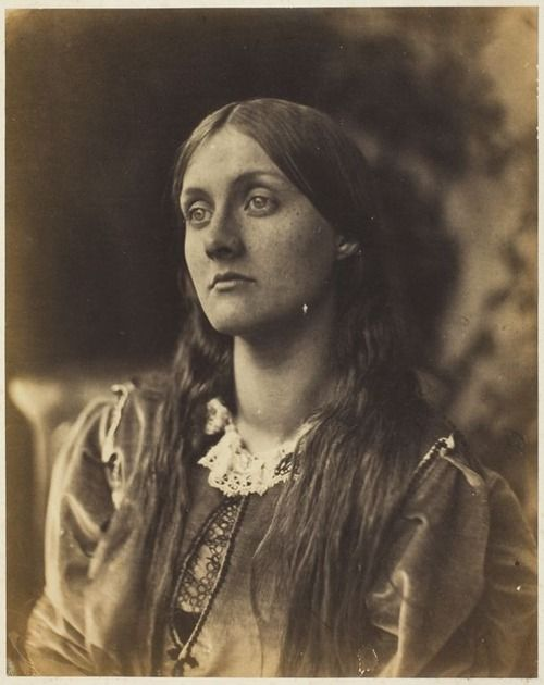 Julia Stephen (1846–1895), a renowned beauty in her day and mother of Virginia Stephen who would later become better known as Virginia Woolf. The photograph was taken by the celebrated Victorian photography pioneer, Julia Margaret Cameron (1815-1879).
