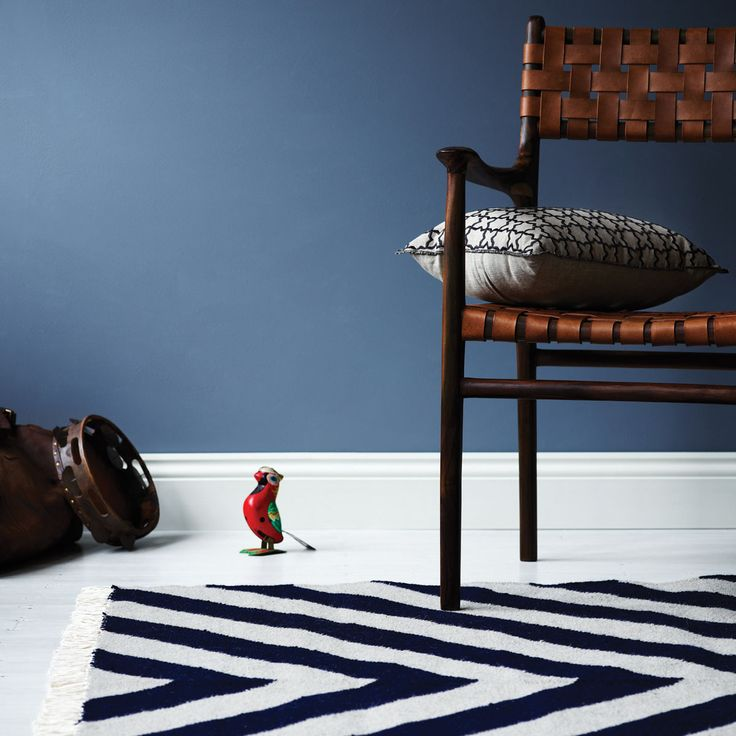 Our new Gatsby Rug in Indigo, like the great man himself, our Gatsby is quite partial to an elaborate party.